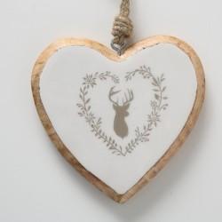 Cœur à accrocher blanc